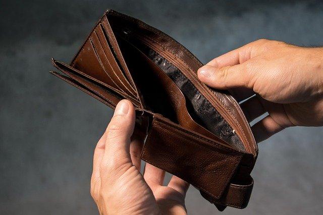 prázdná peněženka